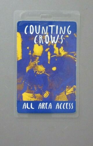 Counting Crows backstage pass laminated Blue All Area Access AUTHENTIC !
