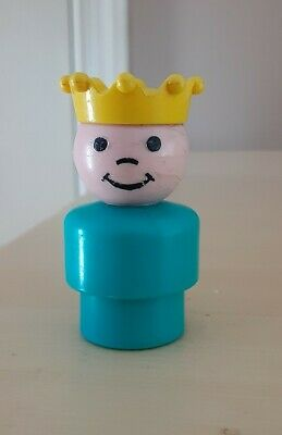 HTF/Rare Vintage Fisher Price little people plastic turquoise PRINCE-Castle 993