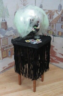 Byers Choice Halloween Table with Crystal Ball and Tarot Cards - Byers Halloween