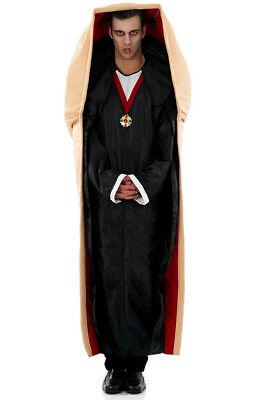 Count Dracula Halloween Costume (MENS VAMPIRE IN A COFFIN COUNT DRACULA COSTUME FUNNY HALLOWEEN FANCY)