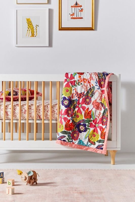 NEW Anthropologie Isabelle Toddler Quilt and Sham