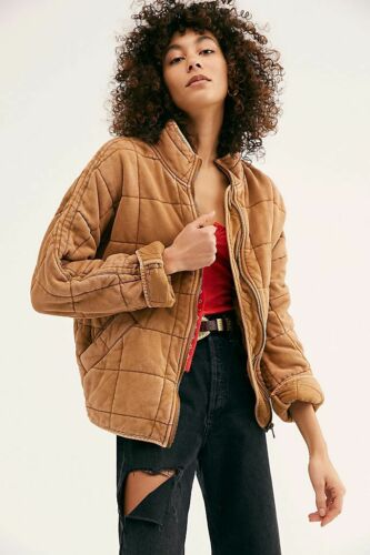 AUTH Free People Dolman Quilted Knit Jacket Toasted Coconut XS