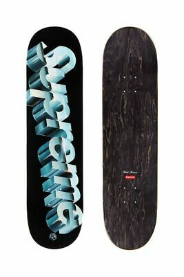 BRAND NEW SUPREME CHROME LOGO SKATEBOARD DECK BLACK (8×31.875) DS SS20