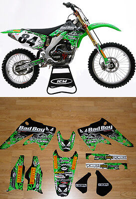 2004-2005 Kawasaki Kxf 250 Graphics Motocross Team Bad Boy Style By Enjoy Mfg