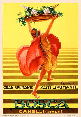Italian Champagne Bosca Asti Cappiello Advertising Giclee Canvas Print 20X29