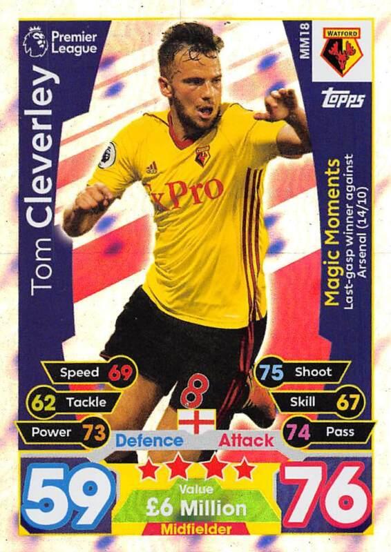 MM15 Match Attax 2017-2018 extra Jese Stoke City Magic Moments no
