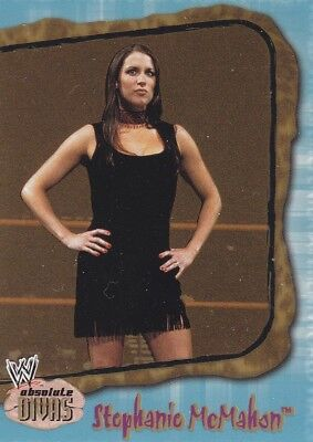 Stephanie Mcmahon 2002 Fleer Wwe Absolute Divas Gems Gold Parallel Card  25
