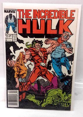 #330 INCREDIBLE HULK 1980s Marvel Comic Book-  Very Fine  - 1980s Incredible Hulk