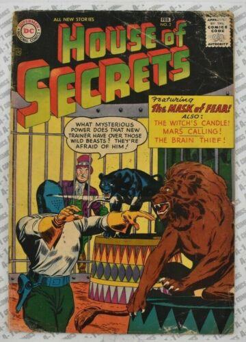 House of Secrets #2 (1957) GD+ Good Plus (2.5) Ruben Moreira DC Comics