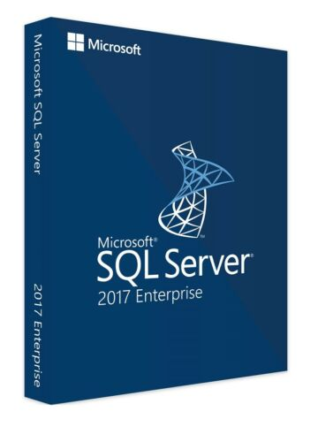 SQL Server 2017 Enterprise Product Key License MS Unlimited CPU Cores Genuine