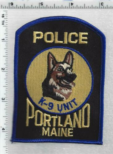 Portland Police K-9 (Maine) 1st Issue Shoulder Patch