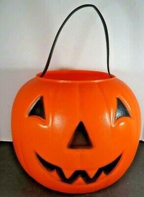 VTG Halloween Empire Blow Mold Pumpkin Trick Treat Bucket Pail B804