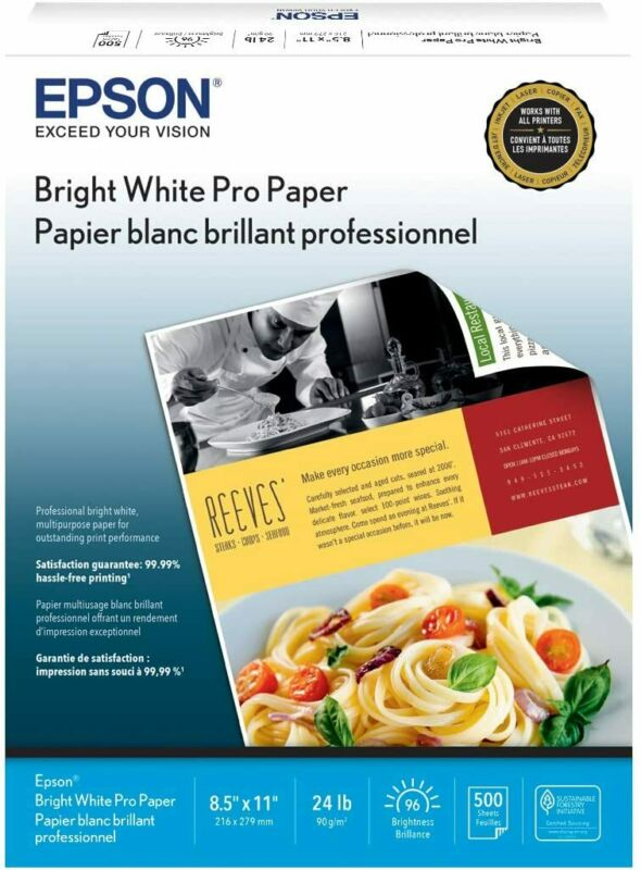 "Bright White Pro Paper 8.5"" x 11"" 500 sheets"