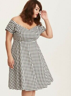 TORRID RETRO CHIC GINGHAM DRESS SIZE 14 (Retro-chic)