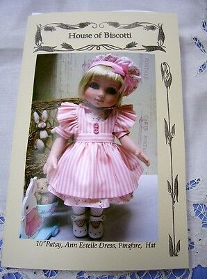 "10"" Tonner  Patsy,  Ann Estelle, PATTERN for Dress,  Undies, Pinafore, Hat"