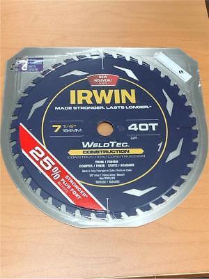 ~ IRWIN Marathon with Weldtec 7-1/4-in 40-Tooth 1826230 Circular Saw Blade 4in 40 Tooth Circular Saw