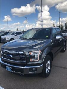 2015 Ford F-150 Lariat 502a Chrome Pkg, powerboards, moonroof, F