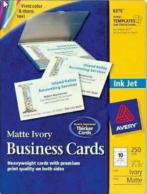 Fane New Office Avery Bus Card 2 X 3.50 Matte Paper 250 Ivory 8376 Sealed