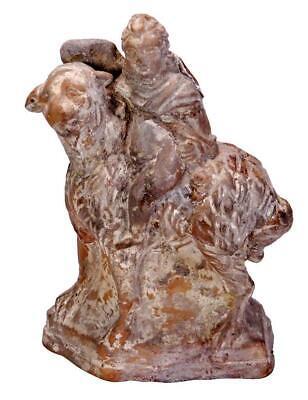 Hellenistic Ceramic Putto Riding a Sheep