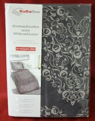BasaTex 4tlg SetMicrofaser Bettwäsche Mr&Mrs 2x 140x200 NEU mit Rechnung + MwSt