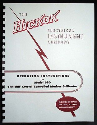 Hickok 690 Vhf-uhf Crystal Controlled Marker Calibrator Operating Manual