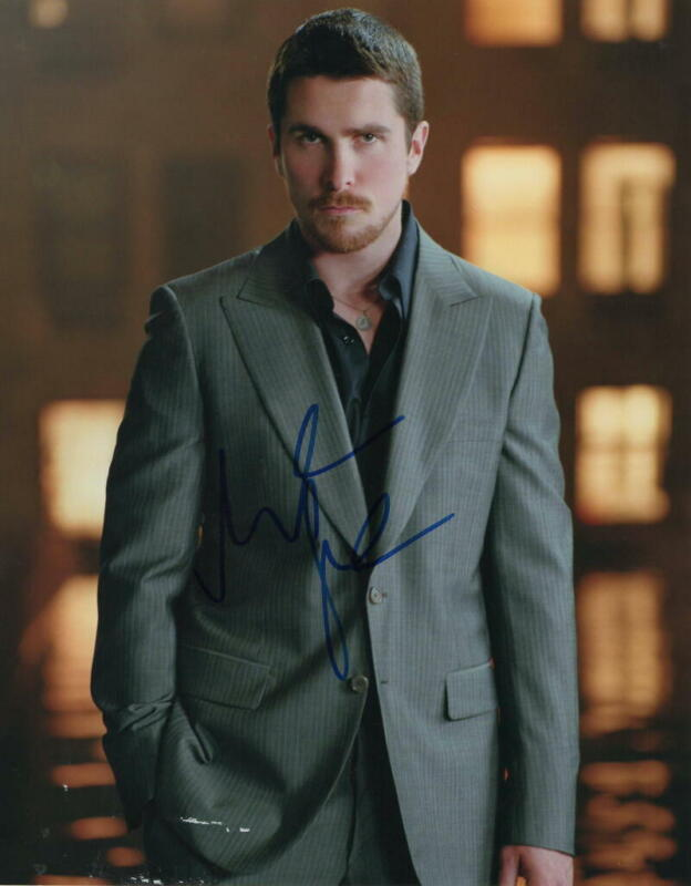 CHRISTIAN BALE SIGNED AUTOGRAPH 11x14 PHOTO - THE DARK KNIGHT STUD IN A SUIT