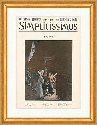 Cover The Number 53 From 1906 Wilhelm Schulz Night Simplicissimus