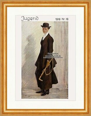 Cover The Number 18 From 1918 Angelo Jank Georg Hirth Youth 4161 Framed