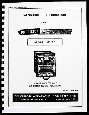 Precision Tube Tester 10-54 Operating Instructions
