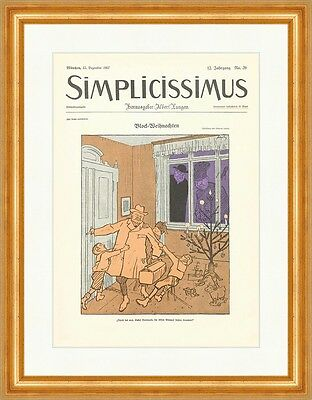 Cover The Number 39 From 1907 Wilhelm Schulz Christmas Simplicissimus 0621