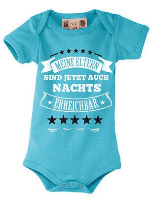 Baby Body Shirt Kinder Strampler Meine Eltern sind jetzt auch nachts erreichbar