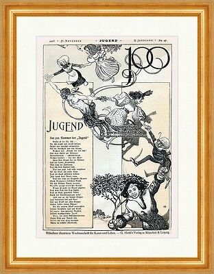 Cover The Number 48 From 1897 Julius Diez Georg Hirth Ostini Youth