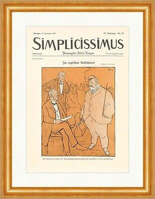 Cover The Number 26 From 1908 W.Schulz Supervisory Simplicissimus