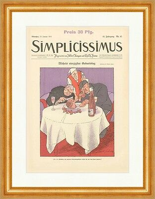 Cover The Number 43 From 1911 Wilhelm Schulz Birthday Simplicissimus