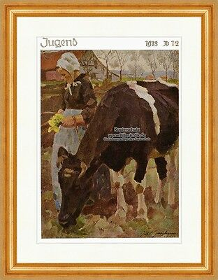 Cover The Number 12 From 1918 Julius Paul Junghanns Farmer's Wife Youth 4155