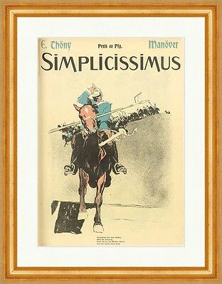 Cover The Number 54 From 1905 Eduard Thöny Horse Rider Simplicissimus 0474
