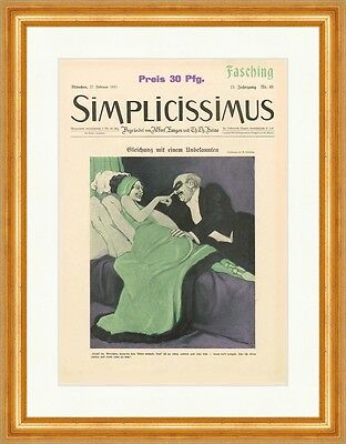 Cover The Number 48 From 1911 Marcello Marcel Dudovich Simplicissimus 0791