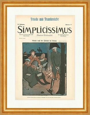 Cover The Number 18 From 1905 Wilhelm Schulz Goethe Simplicissimus 0493
