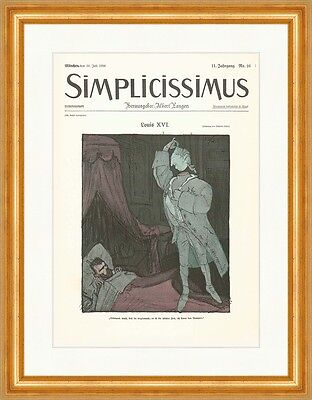 Cover The Number 16 From 1906 Wilhelm Schulz Louis XVI Simplicissimus 0544