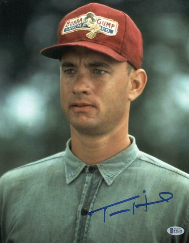 TOM HANKS SIGNED 11X14 PHOTO FORREST GUMP AUTHENTIC AUTOGRAPH BECKETT COA A