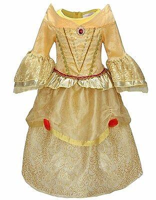 NWT Princess Belle Tangle Costume Dress Girls Halloween Costume Size 3-4](3 Girls Halloween Costume)