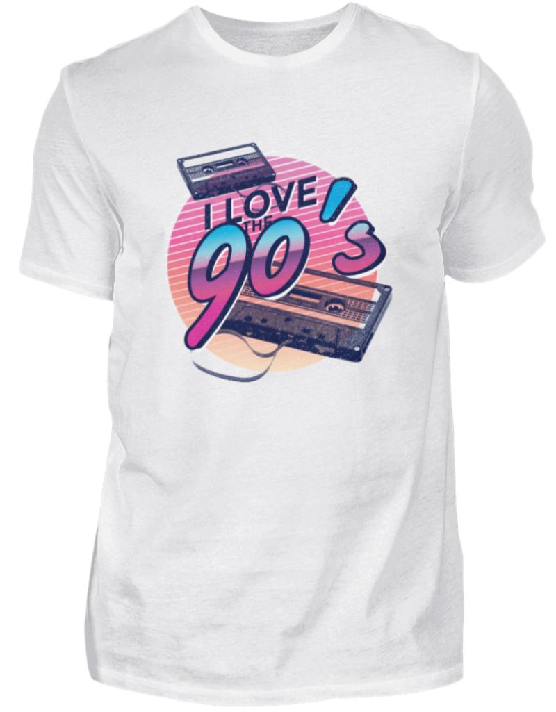 90er 90's Jahre Motto Party T-Shirt Herren 90s Geschenk Neunziger Jahre Outfit