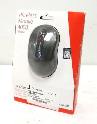 NEW - MICROSOFT WIRELESS MOBILE MOUSE 4000 D5D-00001