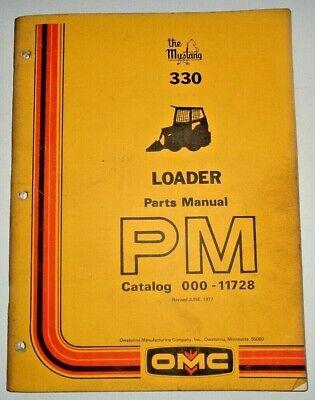Omc Mustang 330 Skid Steer Loader Parts Manual Catalog Book 677 Original