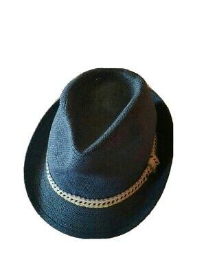Zara Accessories Boy's Stylish mesh Hat Fedora Blue for Kids NWT