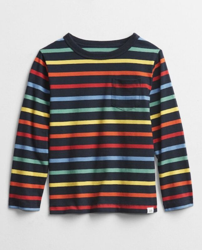 NWT Toddler Boys size 4T Gap Striped long sleeve t-shirt by Baby Gap
