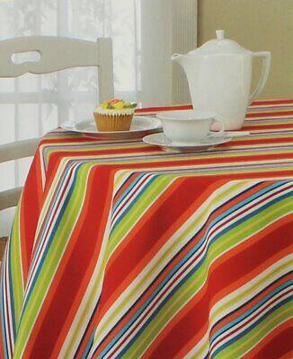 70 Round Tablecloth (Destination Summer Mystic Stripe 70