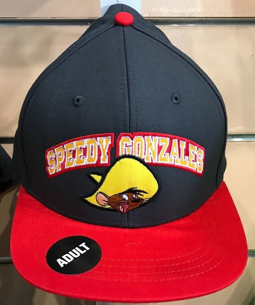 Six Flags Magic Mountain Looney Tunes Speedy Gonzalez Snapback Hat New