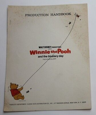 Winnie the Pooh and the Blustery Day * 1968 Production Handbook Packet, 5 pages