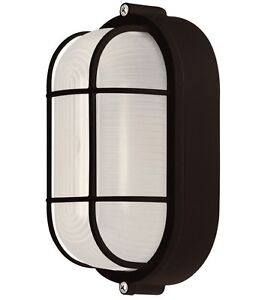 Bulkhead light ebay all weather outdoor bulkhead oval light marine exterior lighting black aloadofball Images